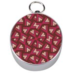 Digital Raspberry Pink Colorful  Silver Compasses Front