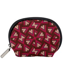 Digital Raspberry Pink Colorful  Accessory Pouches (Small)