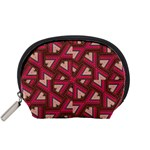 Digital Raspberry Pink Colorful  Accessory Pouches (Small)  Front