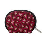 Digital Raspberry Pink Colorful  Accessory Pouches (Small)  Back