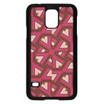 Digital Raspberry Pink Colorful  Samsung Galaxy S5 Case (Black) Front