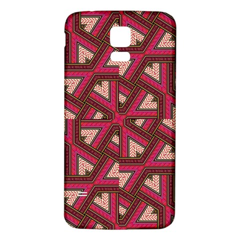 Digital Raspberry Pink Colorful  Samsung Galaxy S5 Back Case (White)