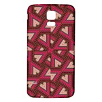 Digital Raspberry Pink Colorful  Samsung Galaxy S5 Back Case (White) Front