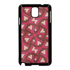 Digital Raspberry Pink Colorful  Samsung Galaxy Note 3 Neo Hardshell Case (Black)