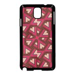 Digital Raspberry Pink Colorful  Samsung Galaxy Note 3 Neo Hardshell Case (Black) Front