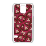 Digital Raspberry Pink Colorful  Samsung Galaxy S5 Case (White) Front