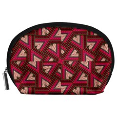 Digital Raspberry Pink Colorful  Accessory Pouches (Large)
