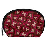 Digital Raspberry Pink Colorful  Accessory Pouches (Large)  Front