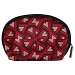 Digital Raspberry Pink Colorful  Accessory Pouches (Large)  Back