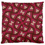Digital Raspberry Pink Colorful  Large Flano Cushion Case (One Side) Front