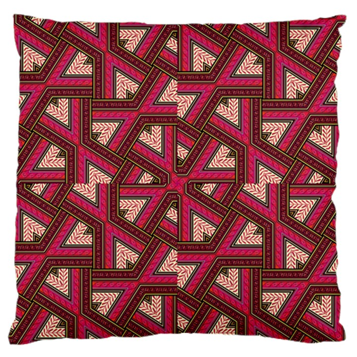 Digital Raspberry Pink Colorful  Large Flano Cushion Case (One Side)