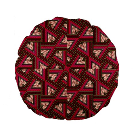 Digital Raspberry Pink Colorful  Standard 15  Premium Flano Round Cushions