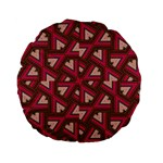 Digital Raspberry Pink Colorful  Standard 15  Premium Flano Round Cushions Back