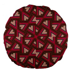 Digital Raspberry Pink Colorful  Large 18  Premium Flano Round Cushions