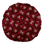 Digital Raspberry Pink Colorful  Large 18  Premium Flano Round Cushions Front