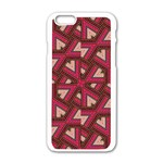 Digital Raspberry Pink Colorful  Apple iPhone 6/6S White Enamel Case Front