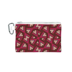 Digital Raspberry Pink Colorful  Canvas Cosmetic Bag (S)