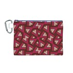 Digital Raspberry Pink Colorful  Canvas Cosmetic Bag (M) Front