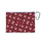 Digital Raspberry Pink Colorful  Canvas Cosmetic Bag (M) Back