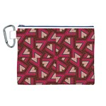 Digital Raspberry Pink Colorful  Canvas Cosmetic Bag (L) Front