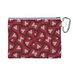 Digital Raspberry Pink Colorful  Canvas Cosmetic Bag (L) Back
