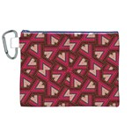 Digital Raspberry Pink Colorful  Canvas Cosmetic Bag (XL) Front