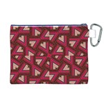 Digital Raspberry Pink Colorful  Canvas Cosmetic Bag (XL) Back