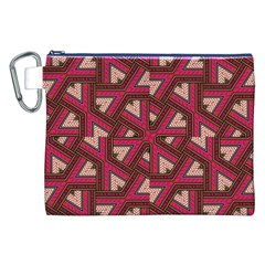 Digital Raspberry Pink Colorful  Canvas Cosmetic Bag (XXL)