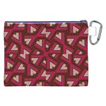Digital Raspberry Pink Colorful  Canvas Cosmetic Bag (XXL) Back