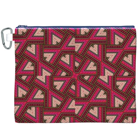Digital Raspberry Pink Colorful  Canvas Cosmetic Bag (XXXL)