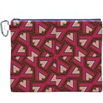 Digital Raspberry Pink Colorful  Canvas Cosmetic Bag (XXXL) Front