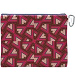Digital Raspberry Pink Colorful  Canvas Cosmetic Bag (XXXL) Back