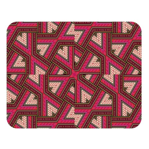 Digital Raspberry Pink Colorful  Double Sided Flano Blanket (Large)