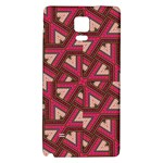 Digital Raspberry Pink Colorful  Galaxy Note 4 Back Case Front