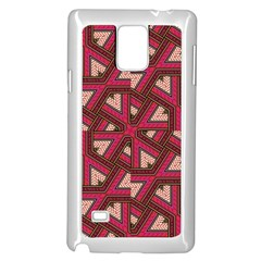 Digital Raspberry Pink Colorful  Samsung Galaxy Note 4 Case (White)