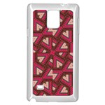 Digital Raspberry Pink Colorful  Samsung Galaxy Note 4 Case (White) Front