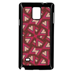 Digital Raspberry Pink Colorful  Samsung Galaxy Note 4 Case (Black)