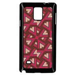 Digital Raspberry Pink Colorful  Samsung Galaxy Note 4 Case (Black) Front