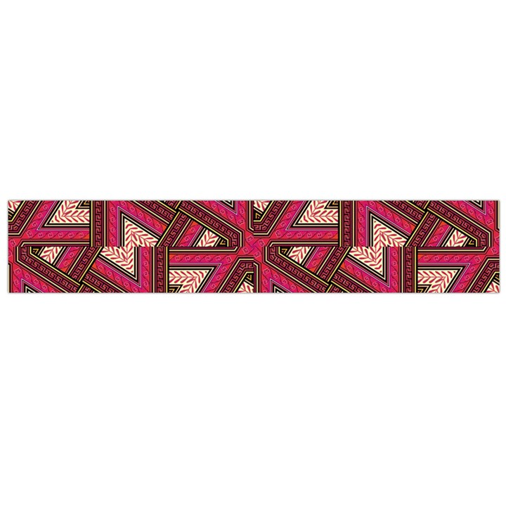 Digital Raspberry Pink Colorful  Flano Scarf (Large)