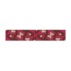 Digital Raspberry Pink Colorful  Flano Scarf (Mini)