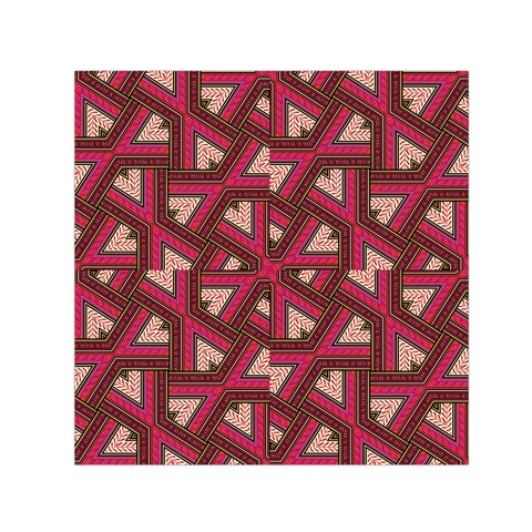 Digital Raspberry Pink Colorful  Small Satin Scarf (Square)