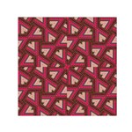 Digital Raspberry Pink Colorful  Small Satin Scarf (Square) Front