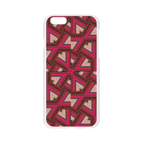 Digital Raspberry Pink Colorful  Apple Seamless iPhone 6/6S Case (Transparent)