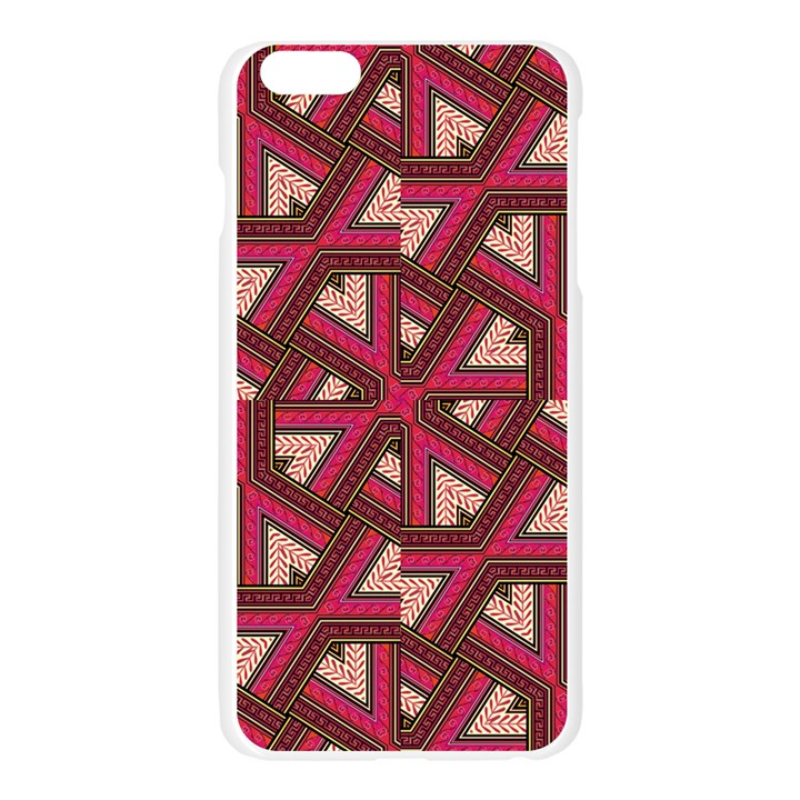 Digital Raspberry Pink Colorful  Apple Seamless iPhone 6 Plus/6S Plus Case (Transparent)