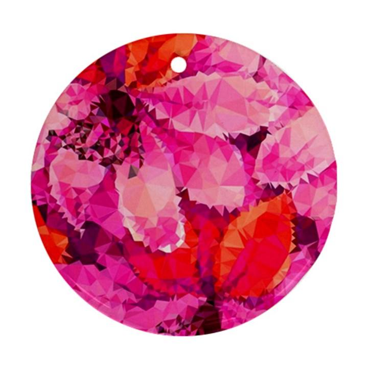 Geometric Magenta Garden Ornament (Round)