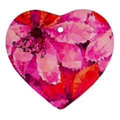 Geometric Magenta Garden Ornament (heart)