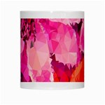 Geometric Magenta Garden White Mugs Center