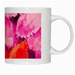 Geometric Magenta Garden White Mugs Right