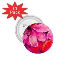 Geometric Magenta Garden 1 75  Buttons (10 Pack)