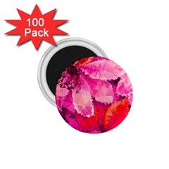 Geometric Magenta Garden 1 75  Magnets (100 Pack)
